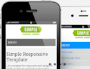 Simple Bootstrap Template Thumbnail